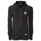 Ladies Under Armour Black Varsity Full Zip Hoodie-Hampton Pirates