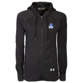 Ladies Under Armour Black Varsity Full Zip Hoodie-Hampton Lady Pirates