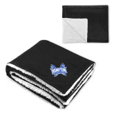 Super Soft Luxurious Black Sherpa Throw Blanket-Hampton Pirates Swords