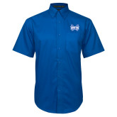 Royal Twill Button Down Short Sleeve-Hampton Pirates Swords