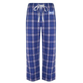 Royal/White Flannel Pajama Pant-Hampton Pirates Swords