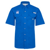 Columbia Bonehead Royal Short Sleeve Shirt-Hampton Pirates