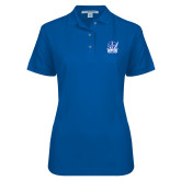 Ladies Easycare Royal Pique Polo-Hampton Pirates