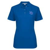 Ladies Easycare Royal Pique Polo-HU