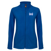 Ladies Fleece Full Zip Royal Jacket-Hampton Pirates Swords