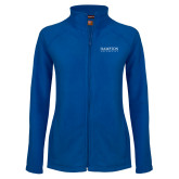 Ladies Fleece Full Zip Royal Jacket-University Mark