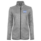 Grey Heather Ladies Fleece Jacket-Hampton Pirates Swords