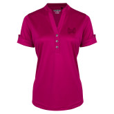 Ladies Ogio Deep Berry Fashion Henley-Hampton Pirates Swords