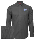 Red House Dark Charcoal Diamond Dobby Long Sleeve Shirt-Hampton Pirates Swords
