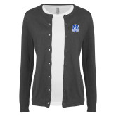 Ladies Charcoal Cardigan-Hampton Pirates