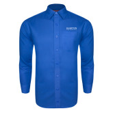 Royal Twill Button Down Long Sleeve-University Mark