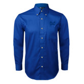 Royal Twill Button Down Long Sleeve-Hampton Pirates Swords