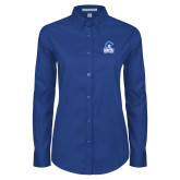 Ladies Royal Twill Button Down Long Sleeve-Hampton Lady Pirates