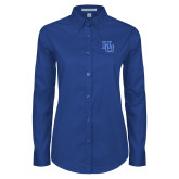 Ladies Royal Twill Button Down Long Sleeve-HU