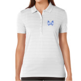 Ladies Callaway Opti Vent White Polo-Hampton Pirates Swords