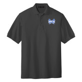 Charcoal Easycare Pique Polo-Hampton Pirates Swords