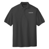 Charcoal Easycare Pique Polo-University Mark