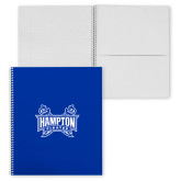 College Spiral Notebook w/Clear Coil-Hampton Pirates Swords