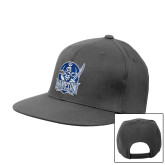 Charcoal Flat Bill Snapback Hat-Hampton Pirates