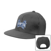 Charcoal Flat Bill Snapback Hat-Hampton Pirates Swords
