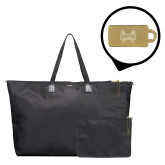 Tumi Just in Case Black Travel Duffel-Hampton Pirates Swords Engraved