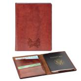 Fabrizio Brown RFID Passport Holder-Hampton Pirates Swords Engraved