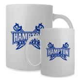 Full Color White Mug 15oz-Hampton Pirates Swords