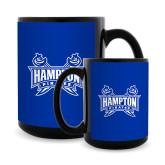 Full Color Black Mug 15oz-Hampton Pirates Swords