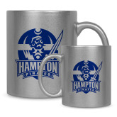11oz Silver Metallic Ceramic Mug-Hampton Pirates