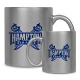 11oz Silver Metallic Ceramic Mug-Hampton Pirates Swords