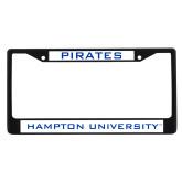 Metal License Plate Frame in Black-Pirates