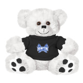 Plush Big Paw 8 1/2 inch White Bear w/Black Shirt-Hampton Pirates Swords