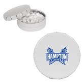 White Round Peppermint Clicker Tin-Hampton Pirates Swords