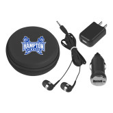 3 in 1 Black Audio Travel Kit-Hampton Pirates Swords