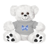 Plush Big Paw 8 1/2 inch White Bear w/Grey Shirt-Hampton Pirates Swords