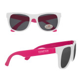 White/Hot Pink Sunglasses-University Mark
