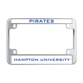 Metal Motorcycle License Plate Frame in Chrome-Pirates