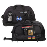 Urban Passage Wheeled Black Duffel-Hampton Pirates Swords