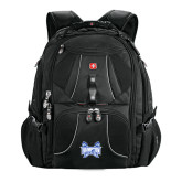 Wenger Swiss Army Mega Black Compu Backpack-Hampton Pirates Swords