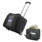 Wenger Transit Wheeled Black Compu Briefcase-Hampton Pirates Swords