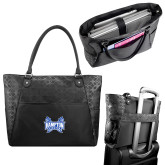 Sophia Checkpoint Friendly Black Compu Tote-Hampton Pirates Swords
