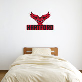 3 ft x 3 ft Fan WallSkinz-Hartford w/ Hawk Combination Mark