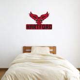 3 ft x 3 ft Fan WallSkinz-Hartford w/ Hawk Combination Mark