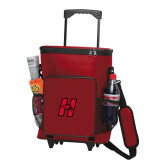 30 Can Red Rolling Cooler Bag-Primary Logo Mark H