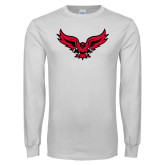 White Long Sleeve T Shirt-Full Body Hawk