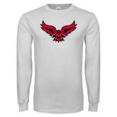 White Long Sleeve T Shirt-Full Body Hawk