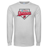 White Long Sleeve T Shirt-2018 Baseball Champions