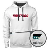 Contemporary Sofspun White Hoodie-Hartford Logotype