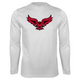Syntrel Performance White Longsleeve Shirt-Full Body Hawk