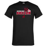 Black T Shirt-Hartford Hawks Soccer Swoosh